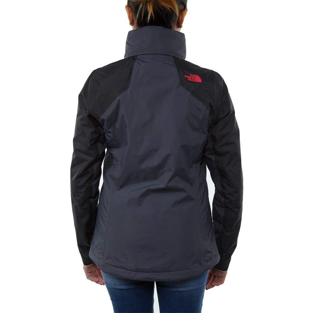 the north face resolve insulated jacket back view Womens Isulated Jackets grey/black