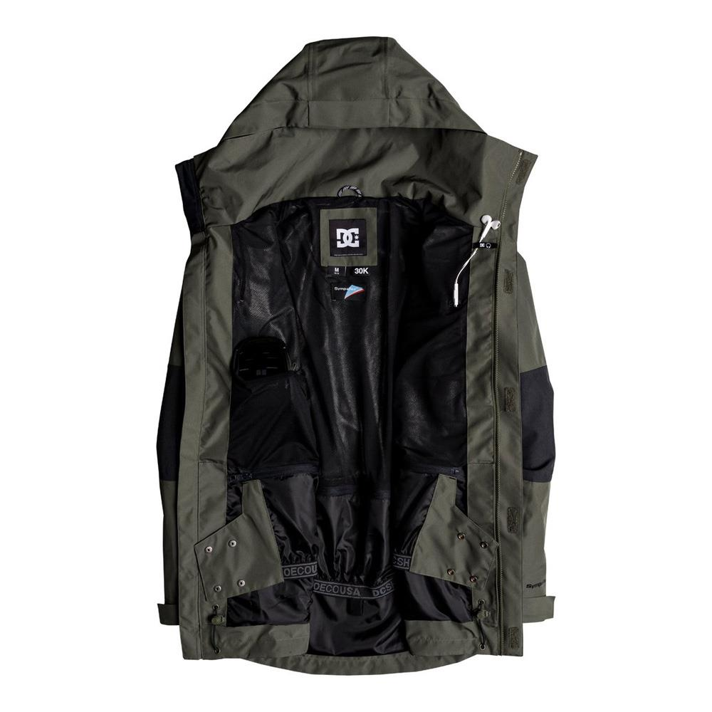EDYTJ03077-GQM0, Beetle, Olive, DC, Command Jacket, Mens Snowboard Jackets, Mens Outerwear, Winter 2020, inside view