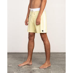 rvca Higgins Trunk side view mens boardshorts yellow