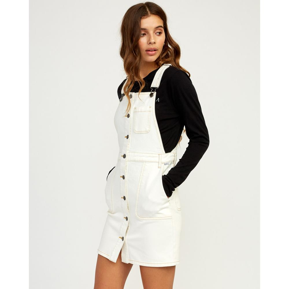 rvca conquer 2019 side view jumpsuit white