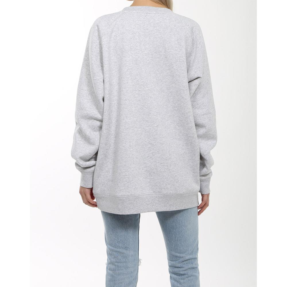 brunette blonde big sister crew back view womens sweaters grey
