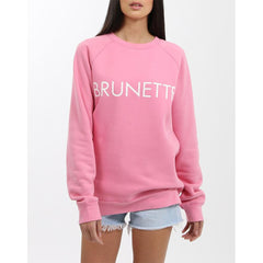 Brunette the label, brunette crew, sweatshirt, womens sweatshirts, hot pink, BTLF002