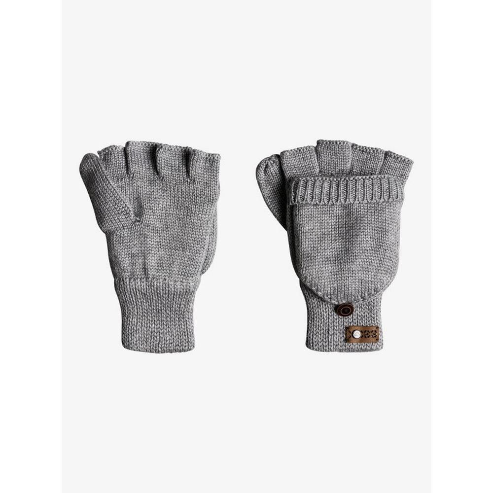ERJHN03115-SJEH, Warm Heather Grey, Grey, Frozen Jaya Knitted Mittens, Womens Mitts, Womens Outerwear, Winter