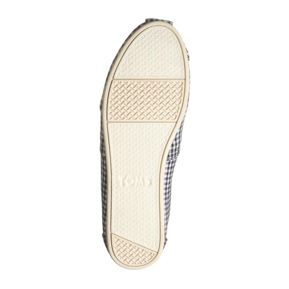 Toms Alpargata Gingham Stripe Slip On Shoes