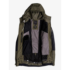EQYTJ03170-CRE0, GRAPE LEAF, OLIVE, BLACK, QUIKSILVER, FOREVER 2L GORE-TEX JACKET, MENS SNOWBOARD JACKETS, MENS OUTERWEAR, WINTER 2020
