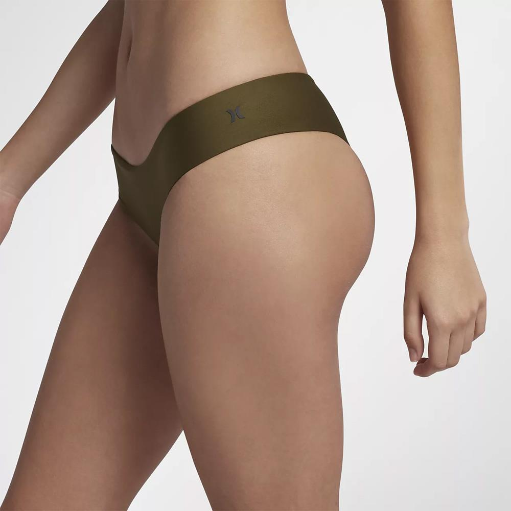 Hurley, Quick Dry Hipster Surf Bottoms, Womens Bikini Bottoms, Olive, AQ3202-395, side view