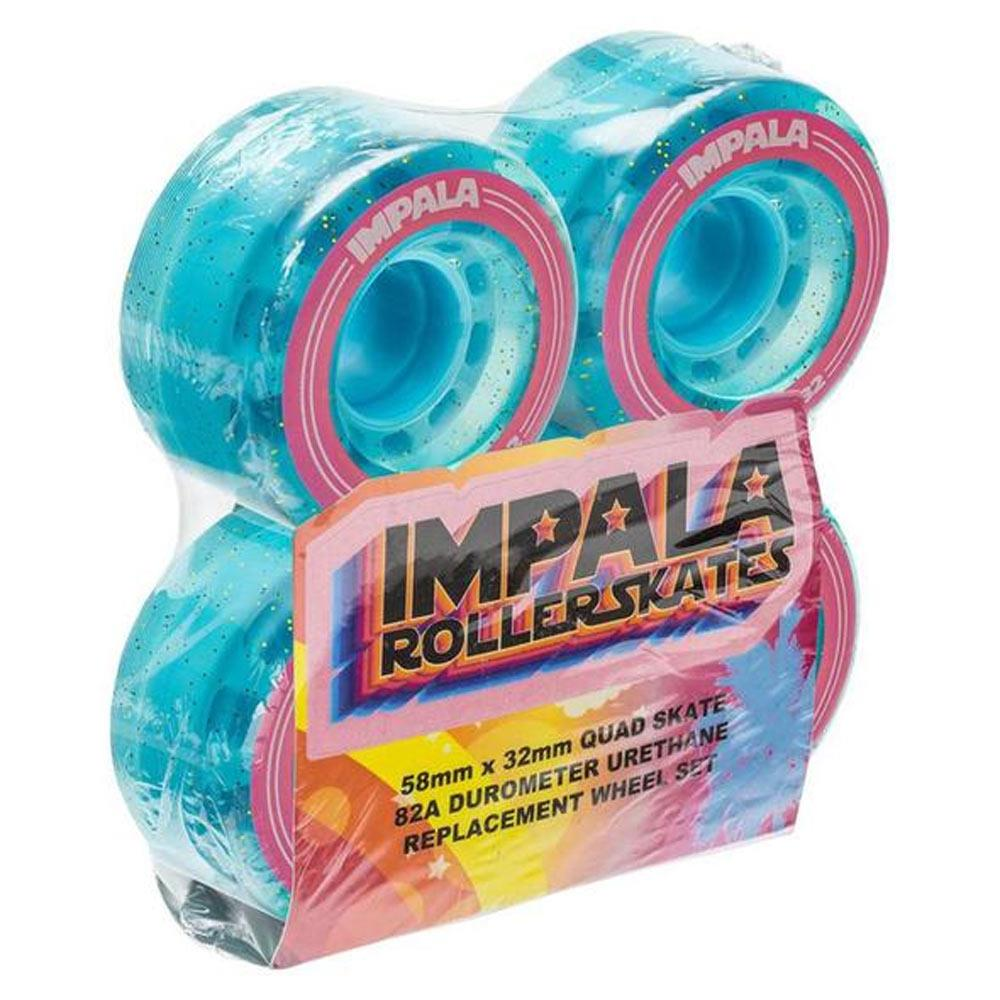 HOLOGRAPHIC GLITTER, Impala Roller Skates, Replacement wheels 4pack,
