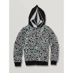 C4831932-BWH, Cool Stone Full Zip Hoodie, Boys 8-12 years, BWH, Black and white, Front View