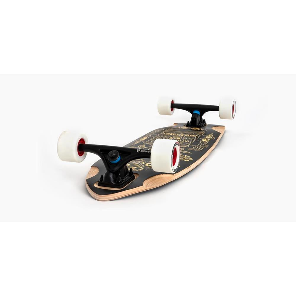 "118CP-DHGMB, Landyachtz, The Gambler Complete, 33.91"", Black, Side View"