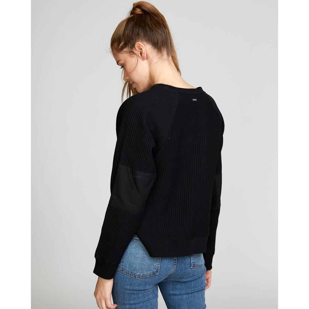 RVCA, Leverage Pullover, W602VRLE-BLOK, Black, Womens Sweatshirts, Fall 2019