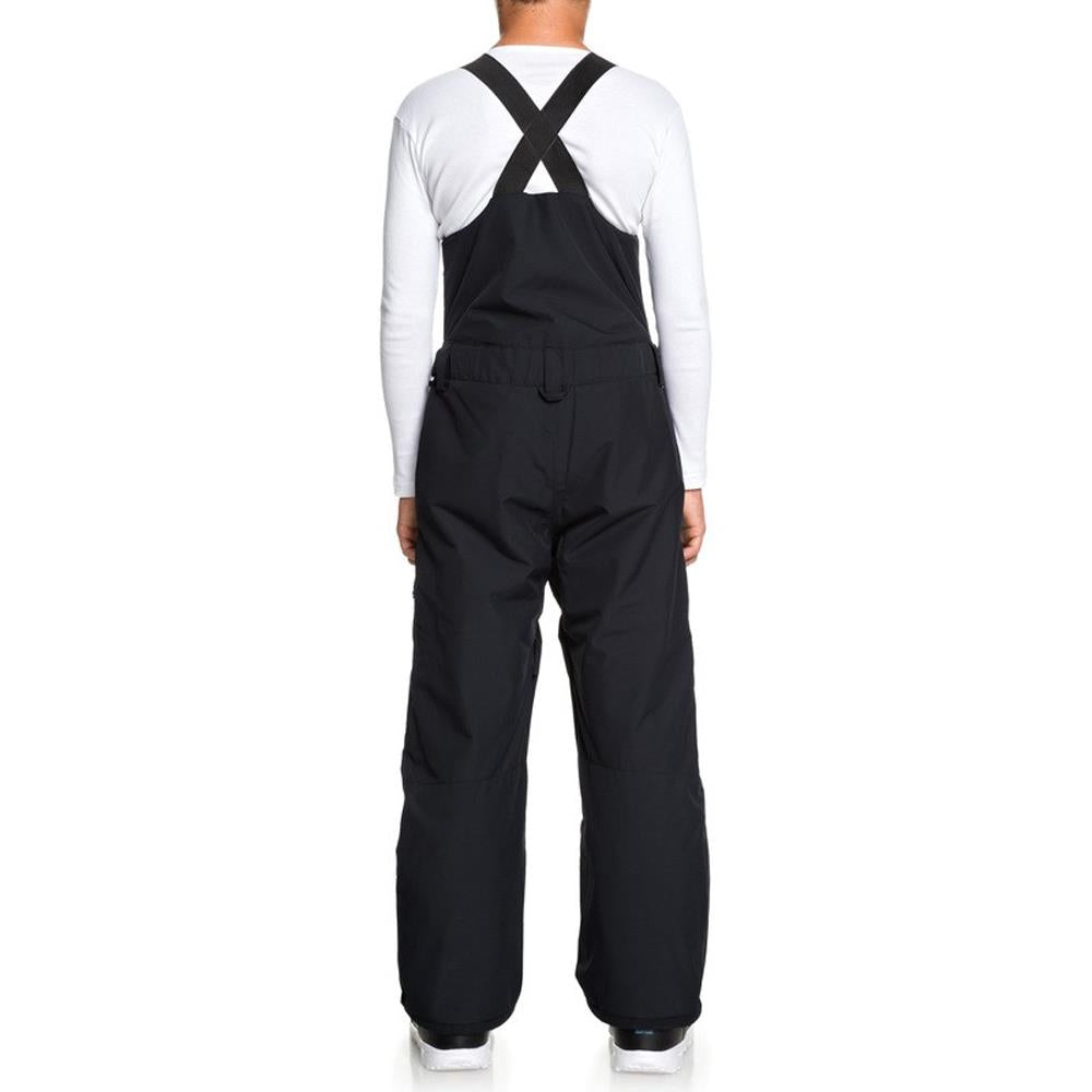 EQBTP03025-KVJ0, Black, Utility Snow Bib Pants, Quiksilver, Youth Outerwear, Youth Snowpants, Back View