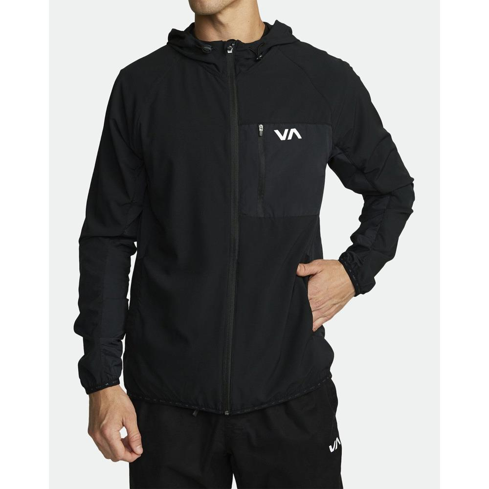 V7021RYJ-BLK, Black, RVCA, Yogger Jacket, Mens Jackets, Mens Windbreakers, Spring 2020