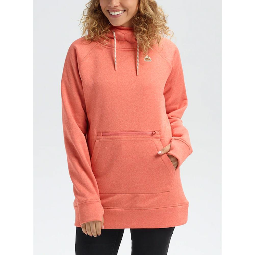 2040101600-Crabapple, Orange, Burton, Oak Long Pullover Hoodie, Womens Pullover Hoodies, Fall 2019