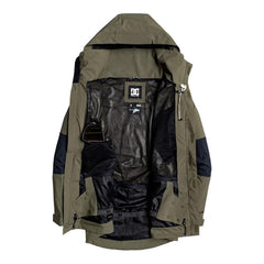 edytj03085-crh0 DC Command Packable Snow Jacket inside view olive night