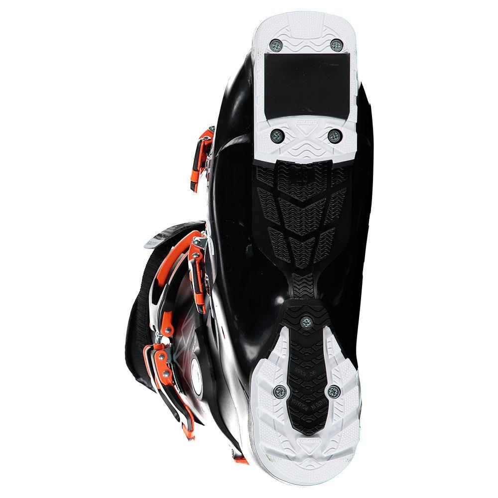 L40851600, ALPINE QST ACCESS 70 BOOTS, MENS SKI BOOTS, BLACK/ANTHRACITE TRANSLUCENT/ORANGE, BOTTOM VIEW