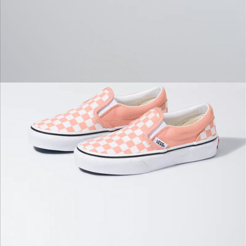 Van Checkerboard Slip On Youth Skate Shoes