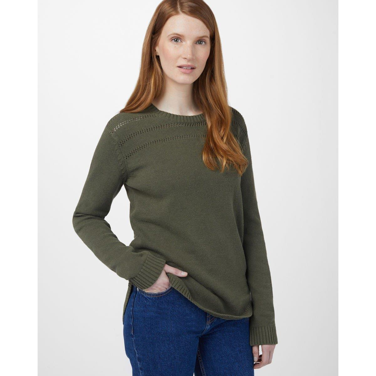 tcw1537-0012 Ten Tree Forever After Sweater womens shirt olive night green front view