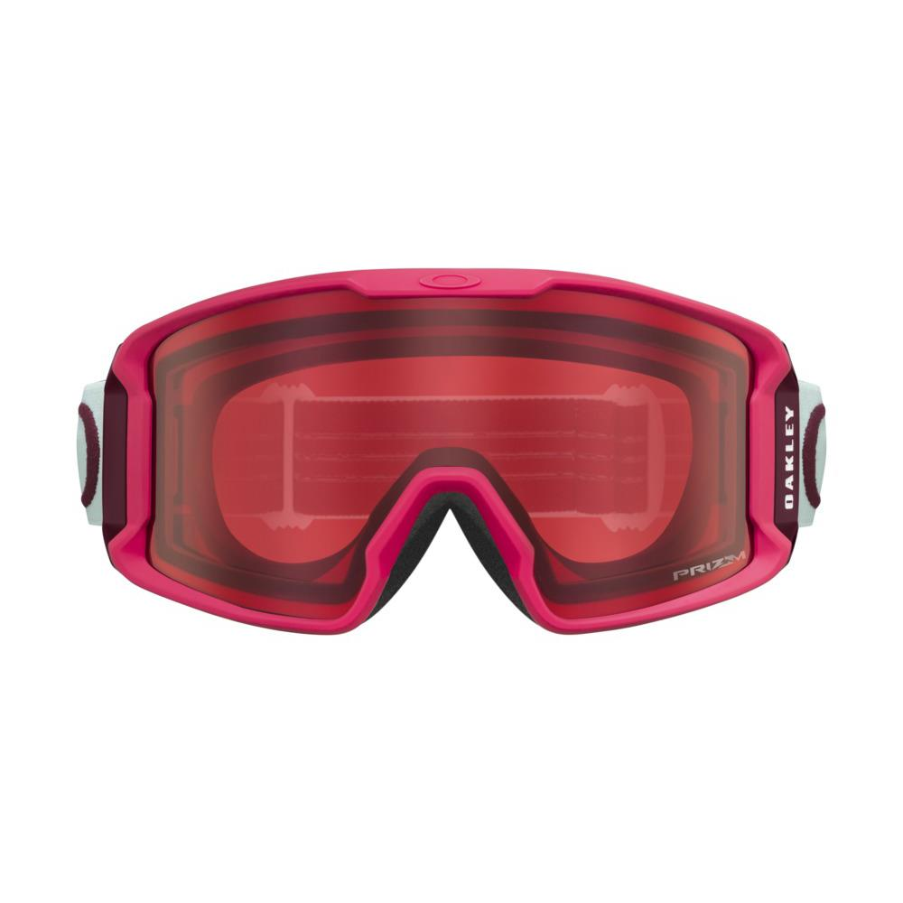 oo7093-21 Oakley Line Miner XM Snow Goggle strong red jasmine/snow rose front