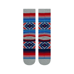 M556D19ROO.HGR, Heather Grey, Red, Blue, Stance, Roo, Mens Crew socks