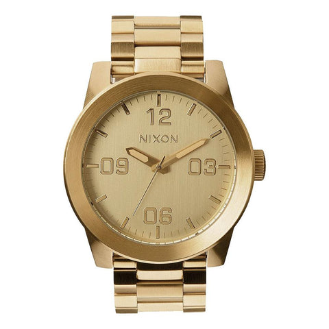 A346-502-00, All Gold, Nixon, The Corporal SS, Mens Watches, Stainless Steel Band, Winter 2019