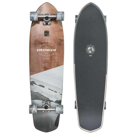 Globe, Blazer XL, everywhere, Top Mount Longboard, White, Natural