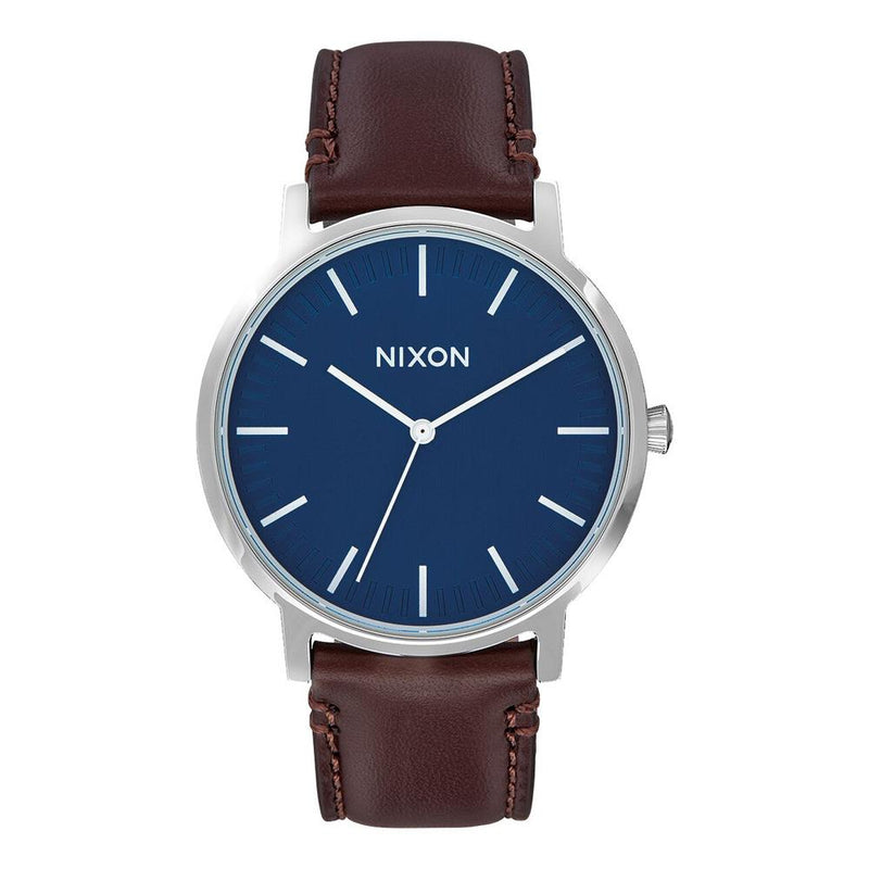 A1058-879-00, NAVY / BROWN, NIXON, PORTER LEATHER BAND, WINTER 2019