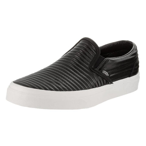 Vans Classic Womens Slip On Moto Leather Shoes