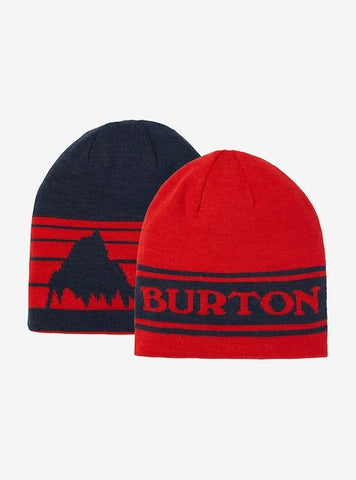 10470107600-BURTON-MENS BEANIE-FLAME SCARLET/DRESS BLUE