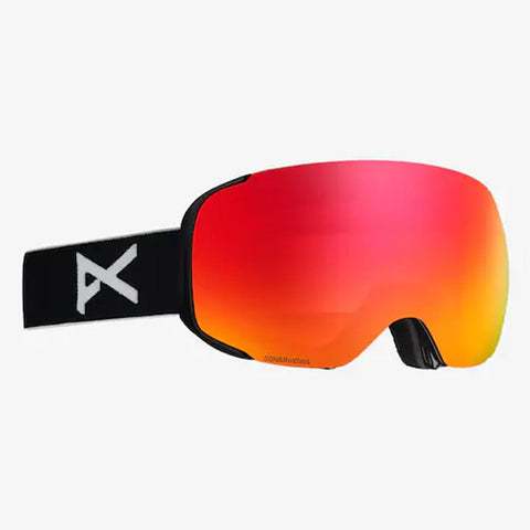 18557101054, BLACK SONAR RED, MENS ANON M2 GOGGLES + SPARE LENS, WINTER 2020