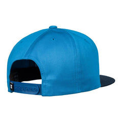 dc snappy snapback hat mens back view mens hats blue