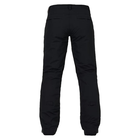 burton society pants womens back view womens snowpants black 10100104-001
