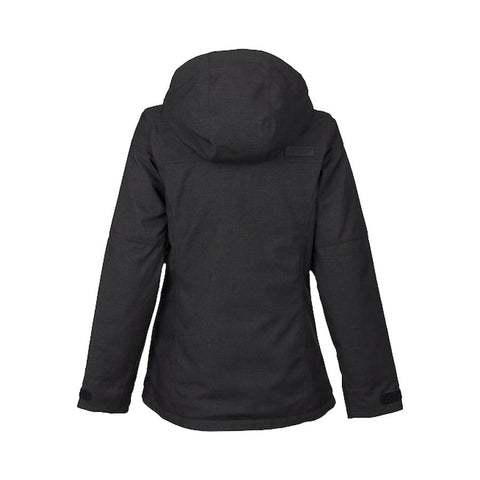 buron jet set jacket back view womens insulated jackets black 10081105600