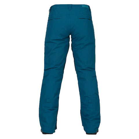 burton society pants womens back view womens snowpants blue oxford 10100103