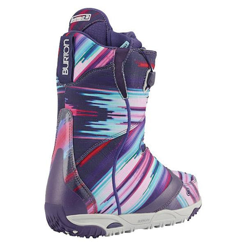 burton emerald snowboard boot side view womens boots purple/blue 10621103979
