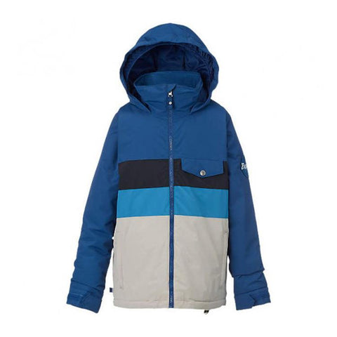 burton symbol jacket boys front view boys snowboard jackets blue/black 11569101921