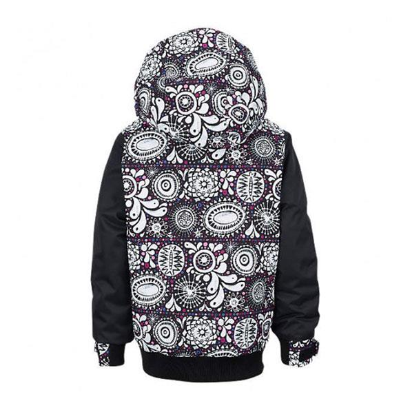 burton eloide jacket girls front view girls snowboard jackets white multi 13045102971