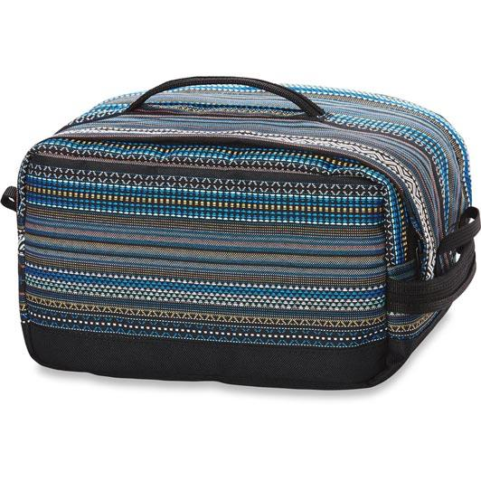 dakine dopp groomer travel kit large back view luggage black stripe 10001478-brighton