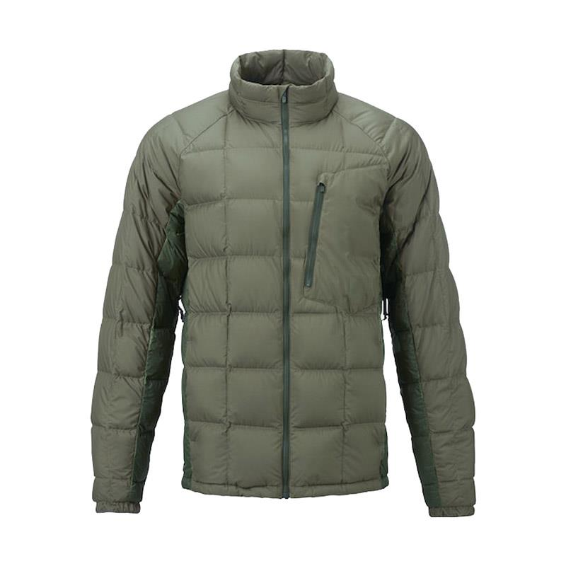 burton ak bk down insulator jacket front view mens isulated snwboard jackets olive 10003104300