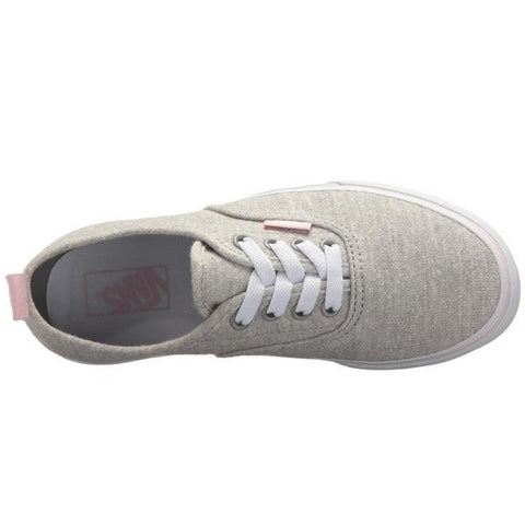 c430779c76449 vans authentic elastic shimmer top view kids skate shoes grey/pink  vn0a38h4q6i