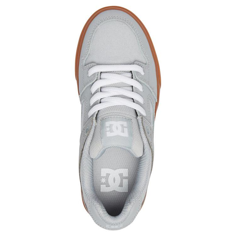 dc pure kids top view kids skate shoes gray adbs300267-2gg