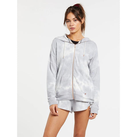B3111802-MLT, MULTI, LIVED IN LOUNGE ZIP FLEECE, VOLCOM, WOMENS ZIP HOODIES,