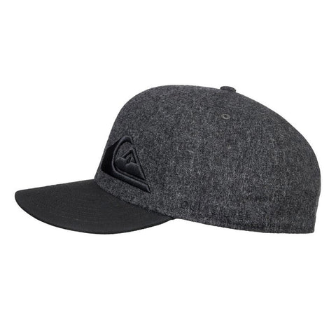 quicksilver final flexfit youth side view youth hats dark heather aqbha03284-knfh