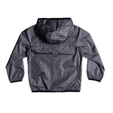 quicksilver contrasted windbreaker boy back view boys windbreaker dark heather eqkjk03081-krph