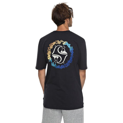 quicksilver lei all day tee back view Mens T-Shirts Short Sleeve black eqyzt04815-kvj0