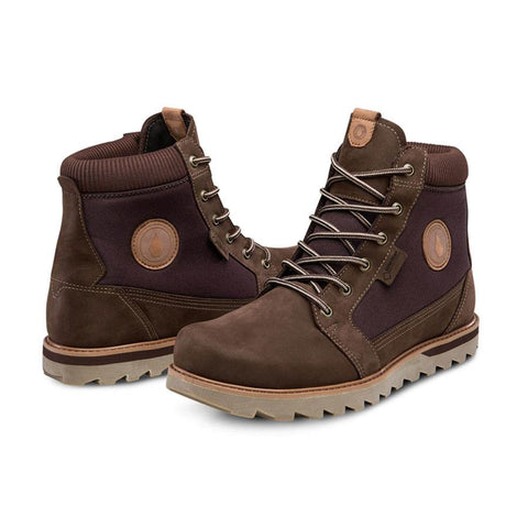 volcom herrington gore-tex boots side view mens winter boots brown v4031705-cof