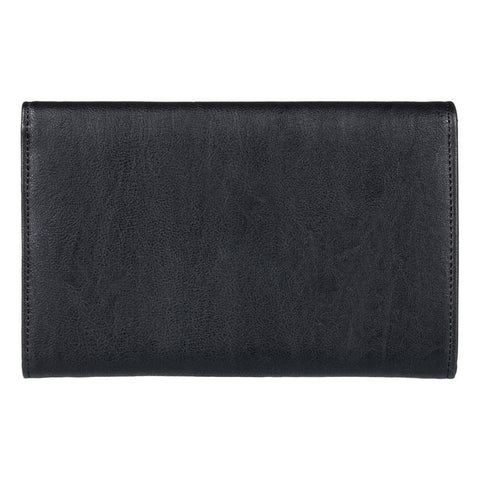 roxy pink motel faux leather wallet back view womens wallets black erjaa03400-kvj0