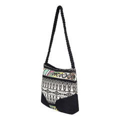 roxy feeling this way handbag side view womens purses black/white erjbp03659-kvj0