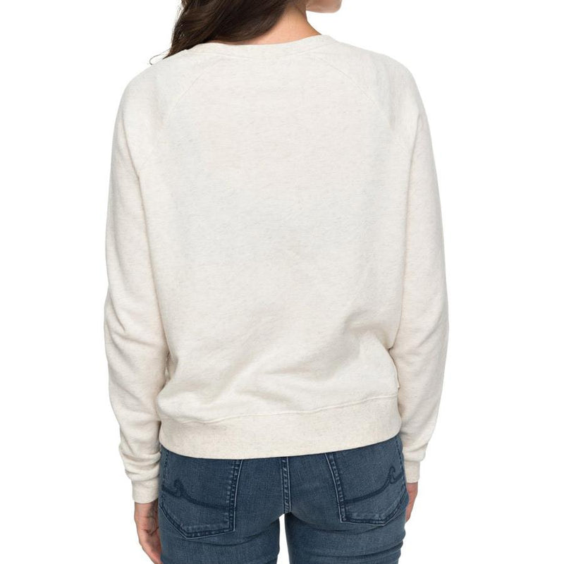 roxy Hope To Love Pull Over Sweatshirt back view womens sweaters off white erjft03697-tenh