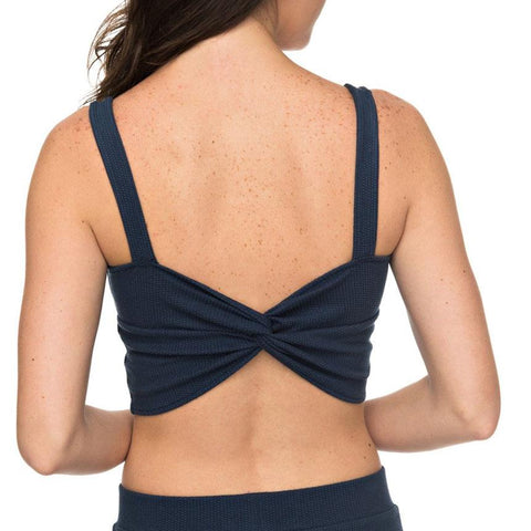 roxy Grenadin Island Strappy Cop Top back view womens tank tops navy blue erjkt03353-bkt0
