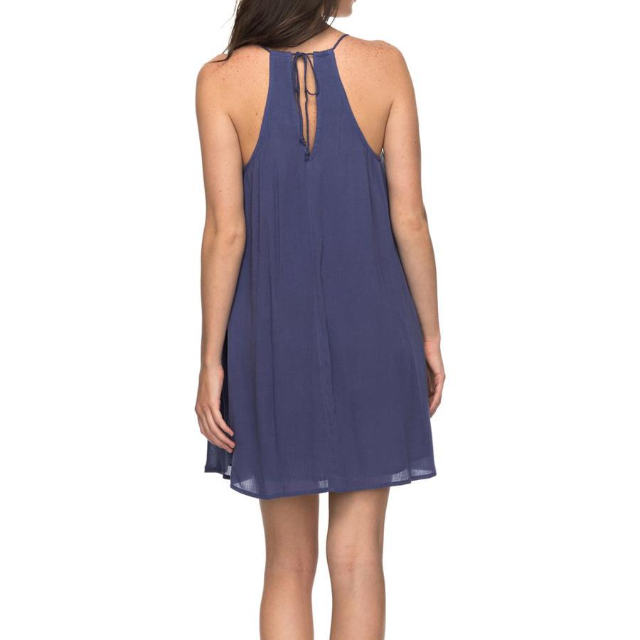roxy Great Intentions Strappy Dress back view casual dresses blue erjwd03195-bre0